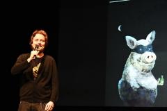 Der Kabarettist Thomas Steierer  -  Preisträger des Passauer Scharfrichterbeils 2017